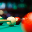 Billiard balls in a pool table. — Stock Photo #54420871