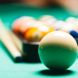 Billiard balls in a pool table. — Stock Photo #56193309
