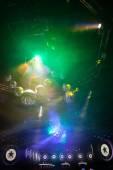 Disco show de luzes, luzes do palco — Fotografia Stock