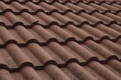 New bulgarian roof tiles close up detail — Stock Photo