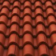 New bulgarian roof tiles close up detail — Stock Photo #60202779