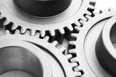 Beweging gears - team kracht — Stockfoto