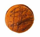 Closeup image of chocolate cookie isolated — Stock Photo