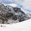 Climbers and sherpas at Cho La Pass. Trek to Everest base camp. — Stock Photo #55317885