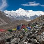The south side of Cho Oyu from Gokyo. Himalayas. Nepal — Stock Photo #55317905
