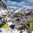 Cho La Pass with prayer flags. Himalayas. Nepal — Stock Photo #55317929
