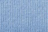 Blue color wool knitted background — ストック写真