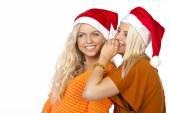 Beautiful santa girl, christmass — Stock Photo