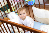 Happy baby at home, 12 months — Stock Photo