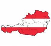 Administartive divisions of austria — Stock Photo