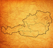 Administrative divisions of austria — Foto Stock