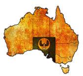 South australia on map of australia — Stock Photo