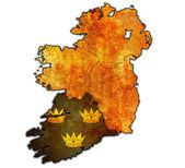 Munster on map of ireland — Stock Photo
