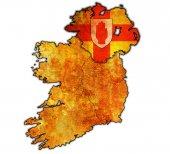 Ulster on map of ireland — Stok fotoğraf