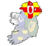 Ulster on map of ireland — Stock Photo
