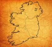 Provinces on map of ireland — 图库照片