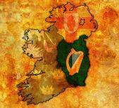 Leinster on map of ireland — Stock Photo