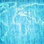 Austria territory on world map — Stock Photo #60331319