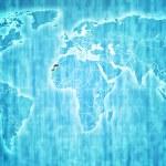 Western sahara territory on world map — Stock Photo #60332101