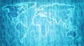 Iceland territory on world map — Stock Photo