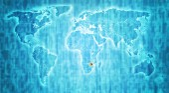 Zimbabwe territory on world map — Stock fotografie