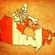 Map of canada — Stock Photo #68035147