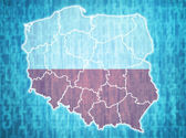 Poland administrative divisions  — Stock Photo