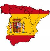 Administrative divisions of spain — Stock Photo