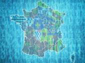 France administrative divisions  — Stock Photo