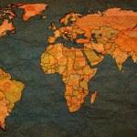 Austria territory on world map — Stock Photo #73842555
