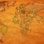 Romania territory on world map — Stock Photo #73843695