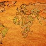Austria territory on world map — Stock Photo #73842557