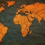 Austria territory on world map — Stock Photo #73842565