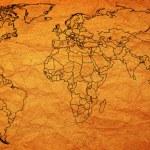 Austria territory on world map — Stock Photo #73842593
