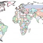 Ireland territory on world map — Stock Photo #73843209
