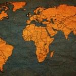 Ireland territory on world map — Stock Photo #73843217