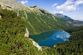 Beautiful glacial lakes in Polish Tatra mountains — Stock Photo