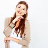 Smiling caucasian woman — Stock Photo