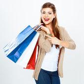 女人保持购物袋. — 图库照片