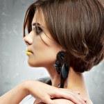 Постер, плакат: Woman with bob haircut