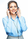 Smiling office worker operator. — Foto Stock