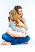 Child embrace her mother — Stock Photo