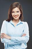 Beautiful business woman studio portrait. — Stock Photo