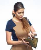 Business woman with credit card. — Stock Photo