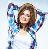 Young woman with beautiful smile — Stock Photo