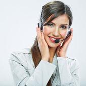 Kvinna kund tjänst arbetstagare — Stockfoto