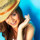 Woman portrait with toothy smile — Stock Photo