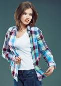 Woman in casual clothing — Stock Photo