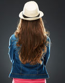 Woman standing back — Stock Photo