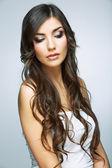 Woman with  luxurious hairdo — Stock Photo
